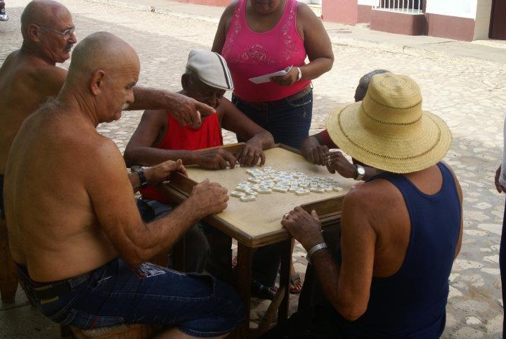Hráči domina v Matanzas