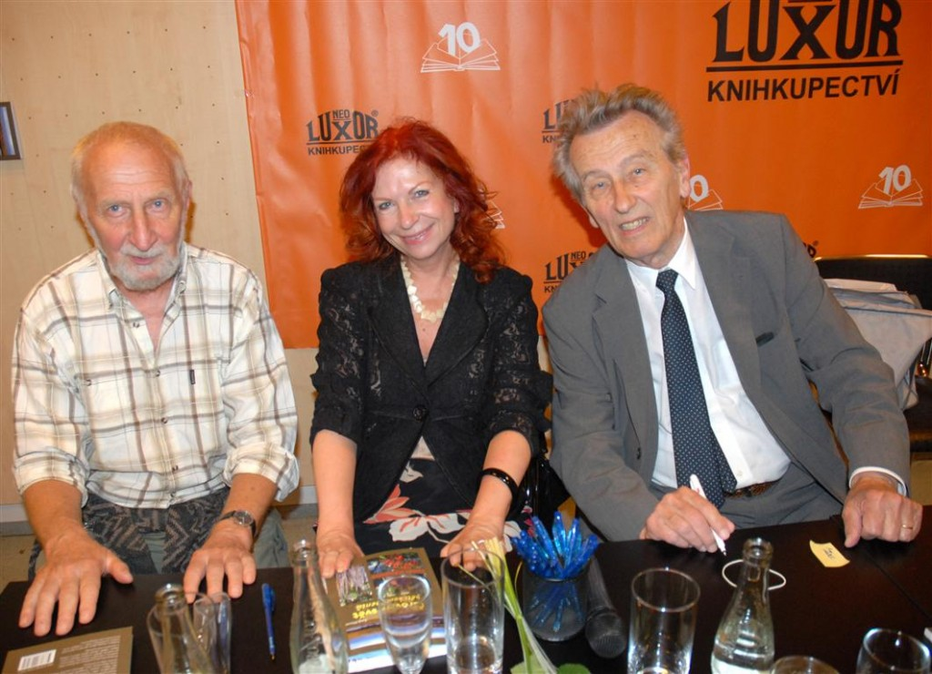 S Václavem Erichem a Václavem Větvičkou (zprava), foto: Josef Louda