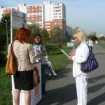 Setkání před Poliklinikou