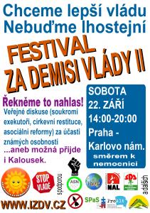 Festival za demisi vlády II