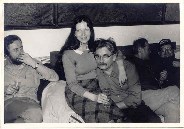S Ludvíkem Vaculíkem (na setkání spisovatelů z disentu)