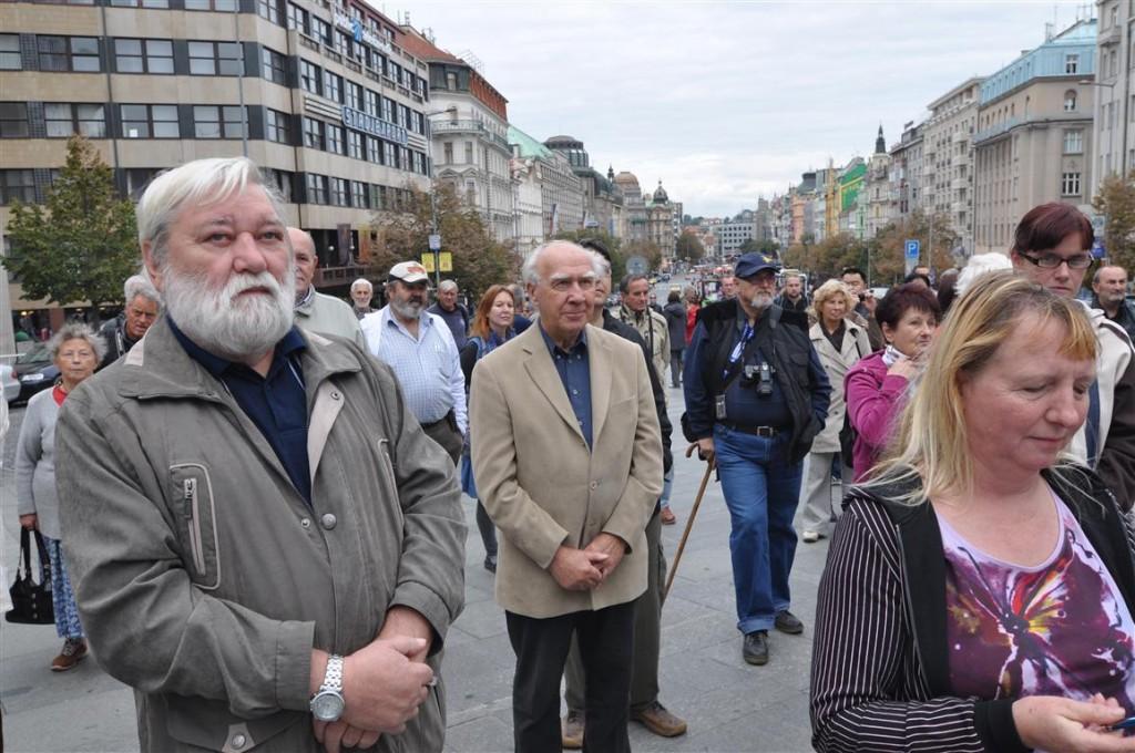 Demonstrace Václavské náměstí 28.9.2012