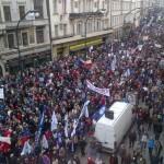Demonstrace na Národní třídě 17. listopadu 2012