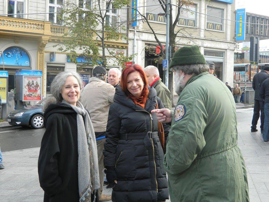 Demonstrace na Václavském náměstí 17. listopadu 2012