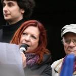 Projev Lenky Procházkové na Národní třídě 17. listopadu 2012